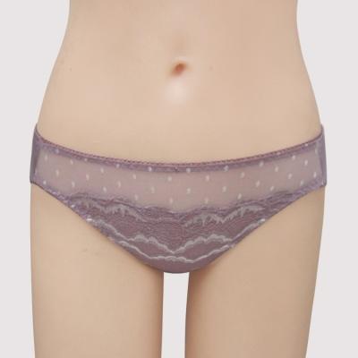 曼黛瑪璉-15春夏經典-低腰三角萊克褲-香芋紫