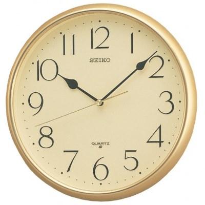 SEIKO 日本精工 標準型 小時鐘(QXA001G)-金/28cm