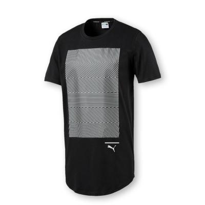PUMA-男性流行系列EV壓印圖短袖T恤-黑色-亞規