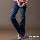【BIG TRAIN】女款 低腰和風繡花寬褲(深藍)