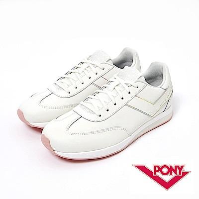 【PONY】Montreal 系列-經典復古鞋-女性-白