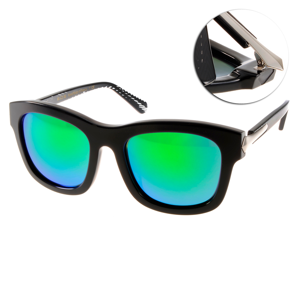EOS偏光太陽眼鏡 摩登時尚/黑#EOSE9007 L13