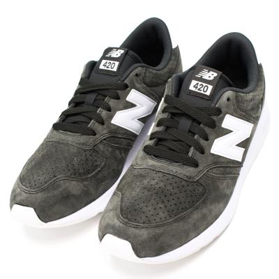 New Balance-420系列男復古慢跑鞋-黑綠