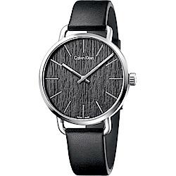 Calvin Klein CK Even 超然木質時尚手錶-黑/42mm