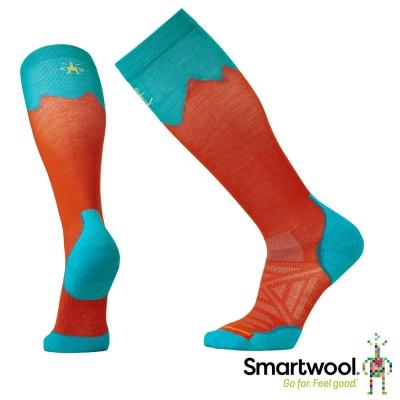 SmartWool 羊毛襪 PhD戶外登山家高筒襪 亮橘色