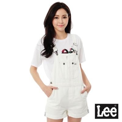 Lee 吊帶連身短褲/RG-女款-白色