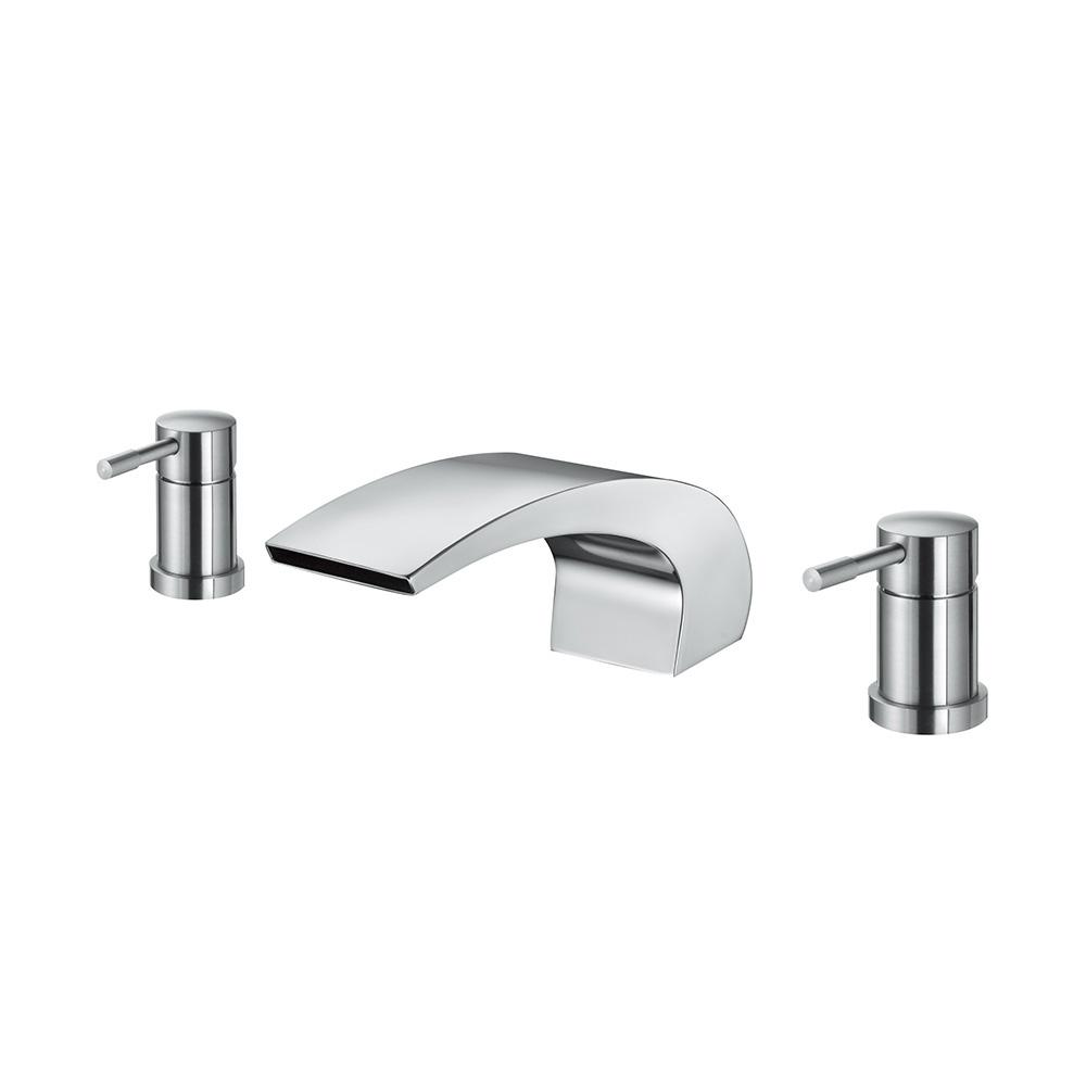 BOSS  D-9024不鏽鋼浴缸龍頭(三件式)