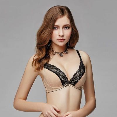 La Felino-魚雁傳情深V無縫泡棉款B-E罩杯內衣(裸膚)