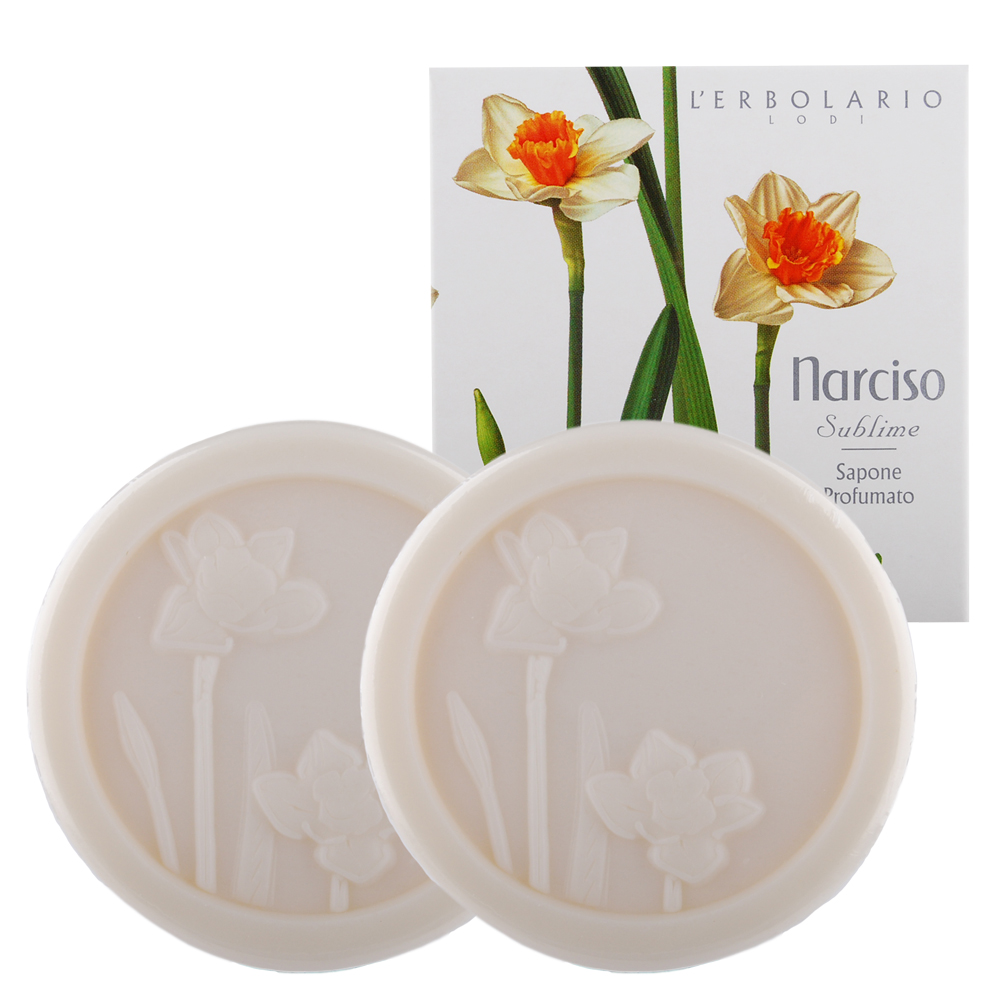 L-ERBOLARIO  蕾莉歐 水仙花植物香氛皂(100g)X2入