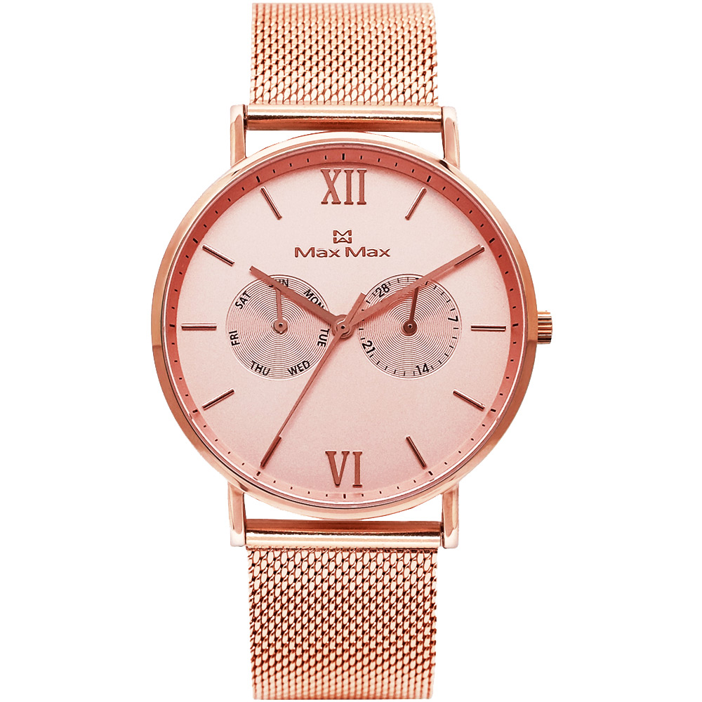 Max Max 三秒翻轉你的時尚腕錶禮盒-MAS7018-3/39mm