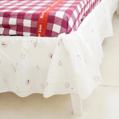 奶油獅-星空飛行-台灣製造-美國防蹣抗菌表布床裙/夏罩-雙人5尺
