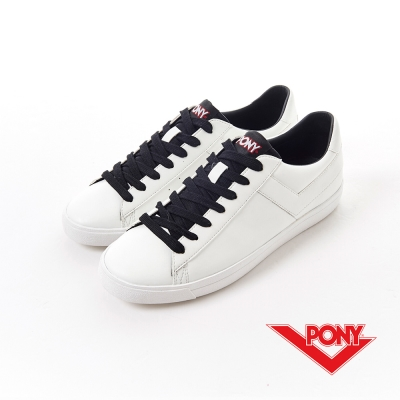 【PONY】經典TOP STAR系列-休閒鞋-中性-白色