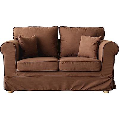 YKS-美式極簡二人座布沙發-獨立筒版(兩色可選)