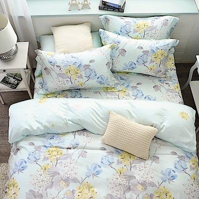 鴻宇HongYew 300織天絲-Floral 雙人特大床包枕套三件組