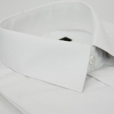 金‧安德森 白色吸排窄版短袖襯衫