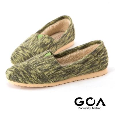 GOA毛線編織懶人休閒鞋-綠色