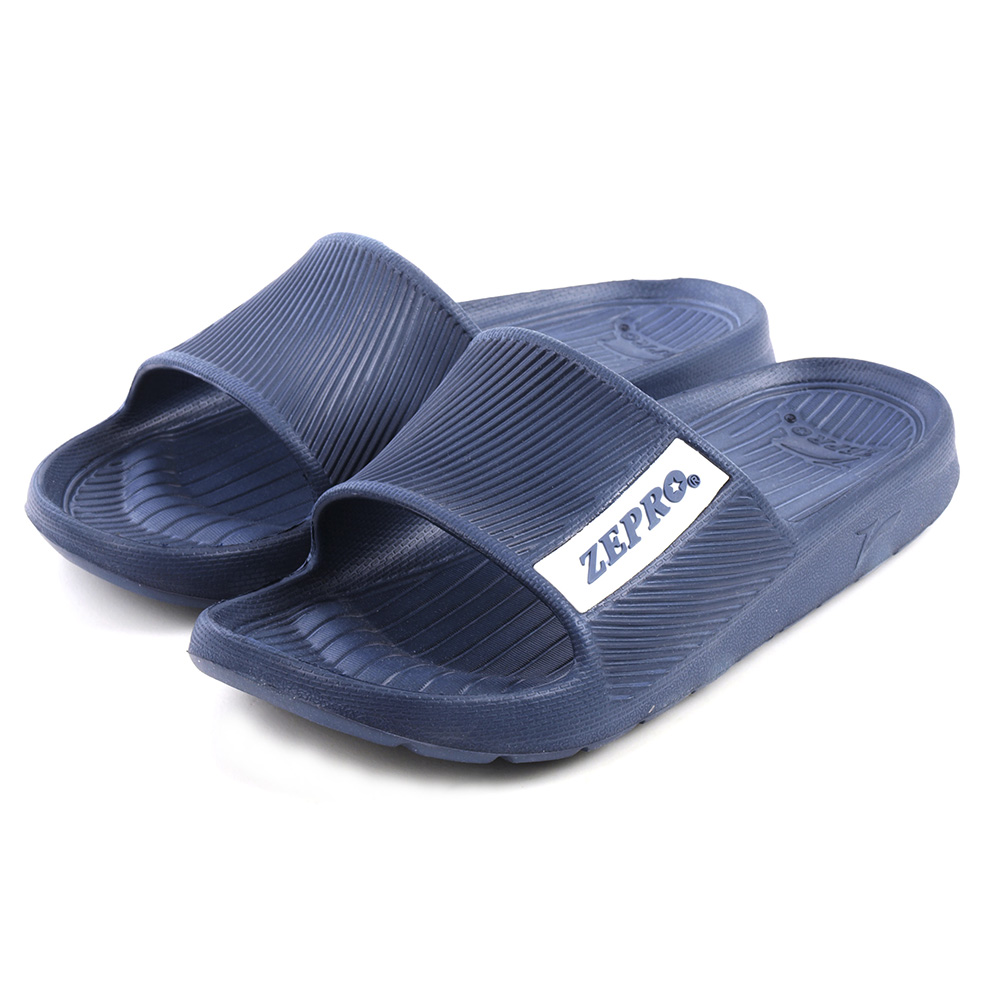 【ZEPRO】女款平板涼拖鞋RELAXED-深礦藍