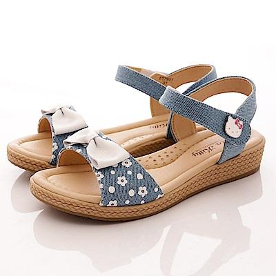 HelloKitty童鞋 牛仔涼鞋款 17951 水藍 (中小童段)T1