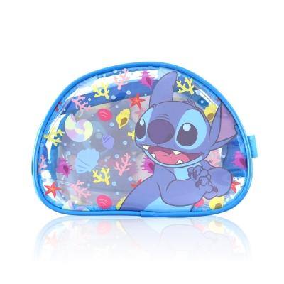 Disney迪士尼經典防水透明史迪奇化妝包 萬用包