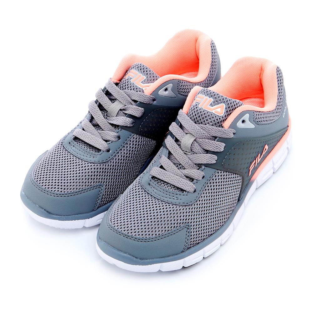 FILA 女慢跑鞋-灰 5-J302S-466