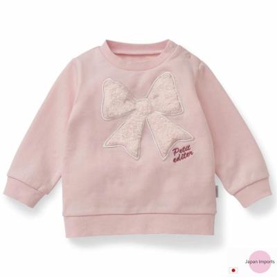 Japan Imports 粉色絨毛蝶結長袖上衣