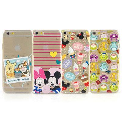 Disney iphone 6 /6s 彩繪可愛風透明保護手機殼