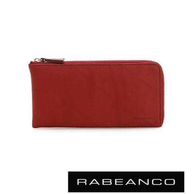 RABEANCO-歐系經典單拉鍊長夾-紅