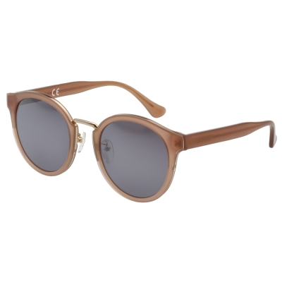 Calvin Klein-水銀面 復古太陽眼鏡(粉藕色)CK4337SK