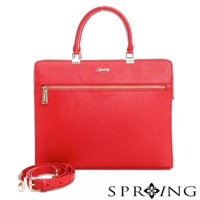 SPRING-金鍊商務系列-大公事包-至尊紅