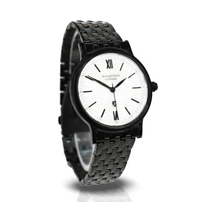 Arseprince 羅馬生活時尚中性錶-黑