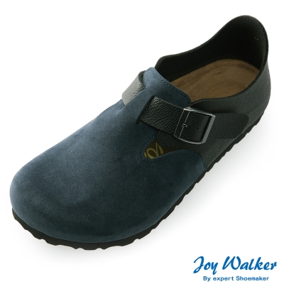 Joy Walker 簡約扣帶休閒包鞋*藍黑