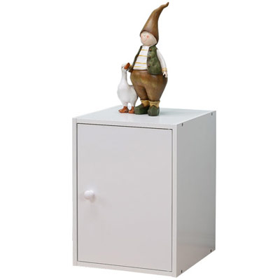 Homelike-粉彩創意單門置物櫃-三色可選