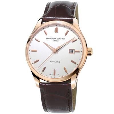康斯登 CONSTANT CLASSICS百年經典系列INDEX腕錶-咖啡/40mm