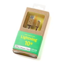 日本cheero阿愣Lightning USB充電傳輸線-10公分
