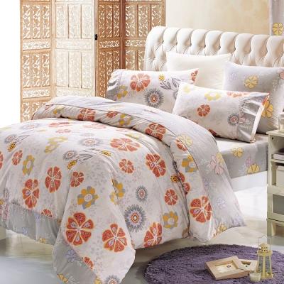 鴻宇HongYew 100%精梳棉 尤勒莉亞 雙人四件式兩用被床包組