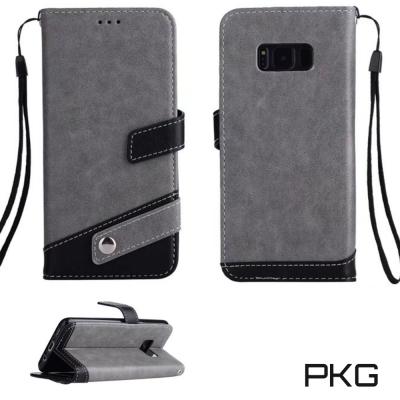 PKG Samsung Note8 側翻式皮套經典皮革系列-灰色