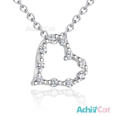 AchiCat 925純銀項鍊 唯美愛心 鎖骨鍊