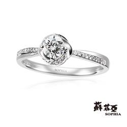 蘇菲亞SOPHIA 求婚戒-GIA 幸福相擁0.30克拉DSI1鑽戒