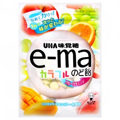 UHA味覺糖 e-ma七彩水果喉糖-袋裝(50g)