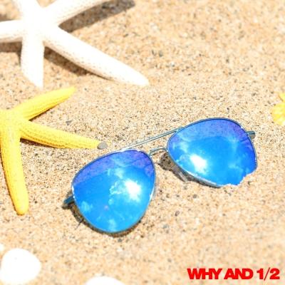 WHY AND 1/2 兒童配件 酷帥雷朋太陽眼鏡 深藍