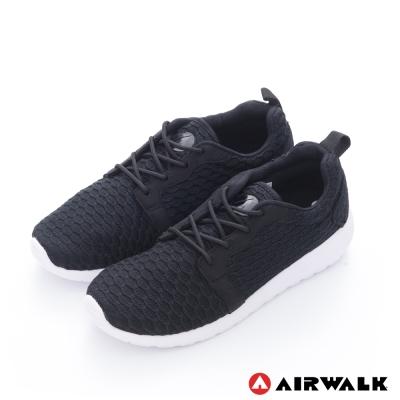 美國 AIRWALK蜂巢式休閒慢跑鞋運動鞋-男款(黑)