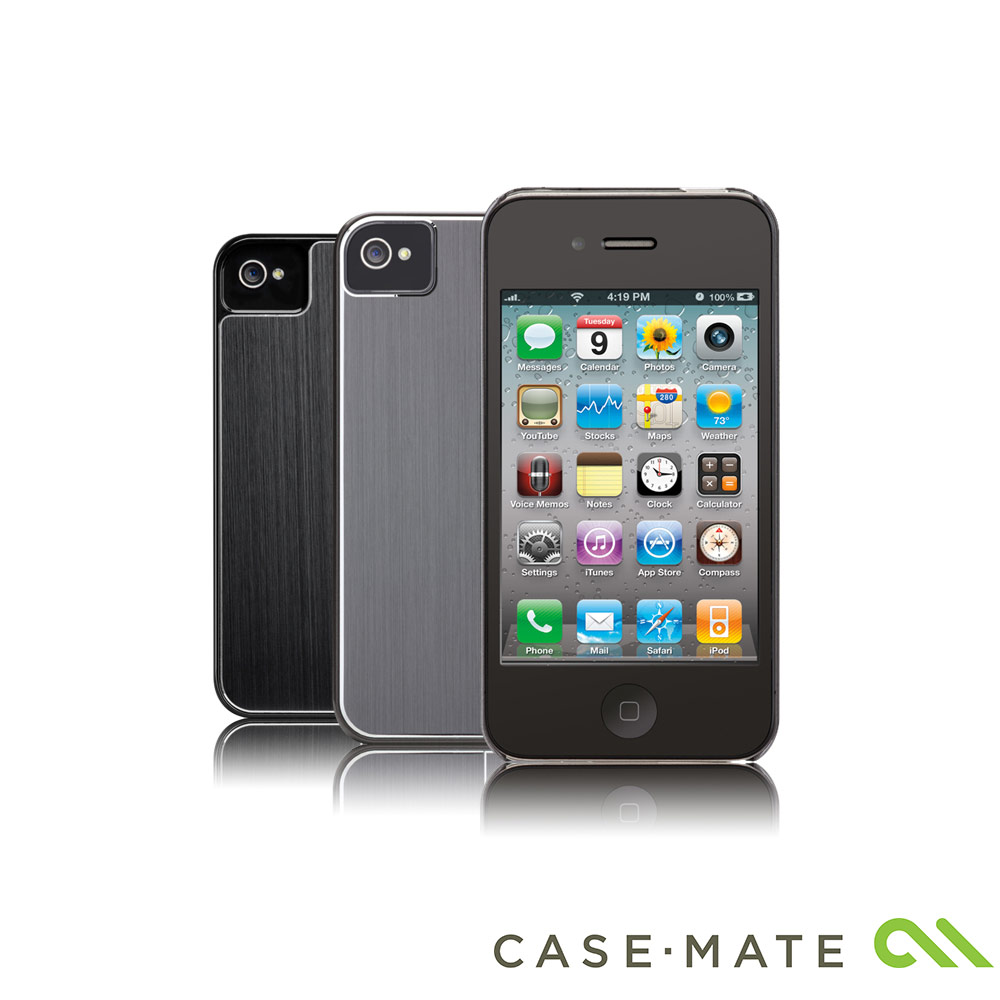Case-Mate iPhone 4/4S 專用鋁合金刷紋特製版保護背