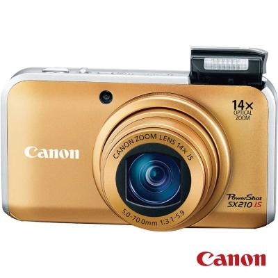 Canon PowerShot SX210 IS 金色 福利品