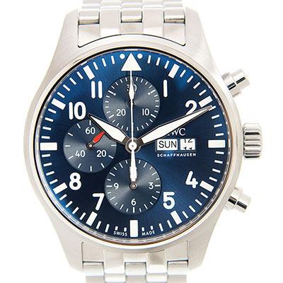 IWC 萬國錶 飛行員計時鍊帶表(IW377717) - 藍色/43mm