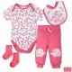 LILY & JACK 英國 桃紅碎花大象款4件超值套裝組合 product thumbnail 1