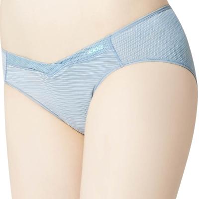 思薇爾 K.K.Fit系列M-XXL素面低腰三角內褲(灰藍色)