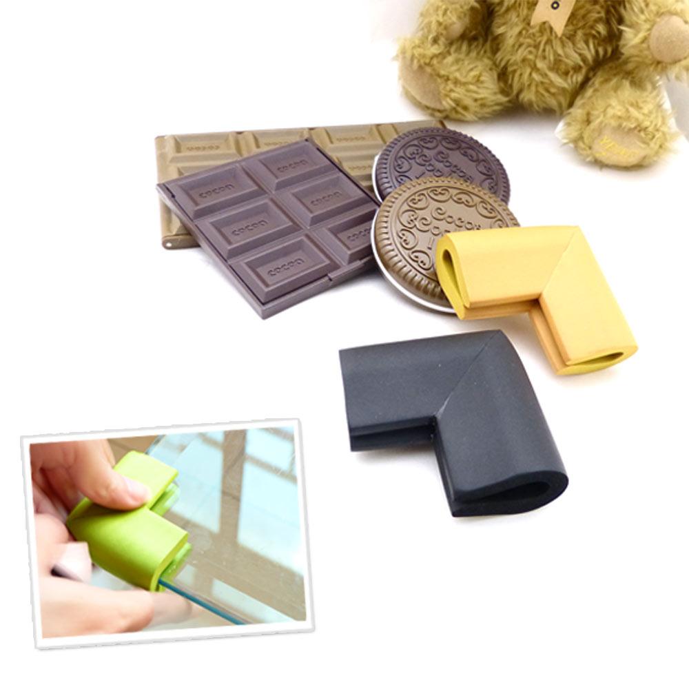 貝禮綺☆茶几、玻璃專用防撞角桌角防撞器16入贈3M膠條桌角防撞泡棉-可可巧克力