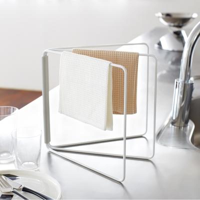 【YAMAZAKI】Plate摺疊抹布架★清潔工具架/廚房收納/毛巾架/居家收納