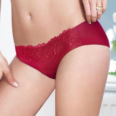 黛安芬-逆齡Bra-M-EL平口配褲-烈焰紅