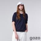 gozo自然系浪漫蕾絲上衣(暗夜藍)